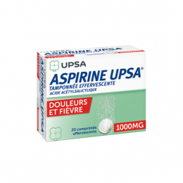 Aspirine 1000mg tamponnée effervescente - 20 comprimés