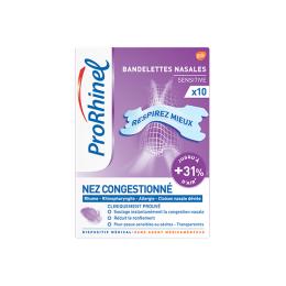 ProRhinel Bandelettes transparentes sensitive - 10 bandelettes