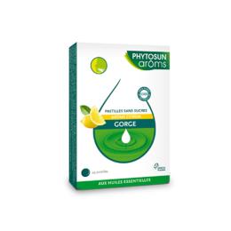 Phytosun aroms Pastilles sans sucres gorge Citron - 24 pastilles