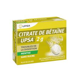 UPSA Citrate de Bétaïne 2g menthe - 20 comprimés
