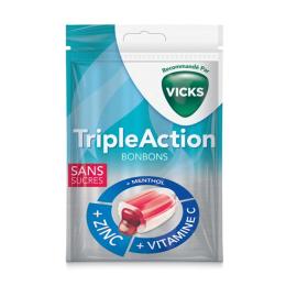 Vicks Bonbons Triple action sans sucres - 72g