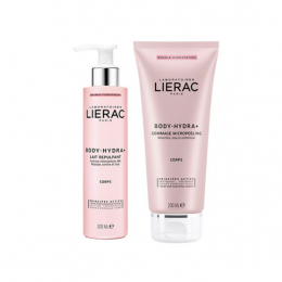 Lierac Body-Hydra+ Gommage Micropeeling - 200ml + Lait Repulpant 200ml OFFERT