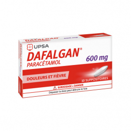 UPSA Dafalgan adultes 600mg - 10 suppositoires