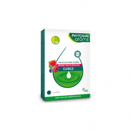 Phytosun Aroms Pastilles gorge fruits rouges - 24 pastilles