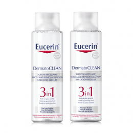 Eucerin Dermatoclean Lotion Micellaire 3 en 1 Lot de 2 x 400 ml