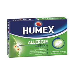 Humex allergie cetrizine 10mg - 7 comprimés