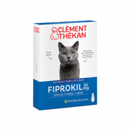 Clément Thékan Fiprokil Chat 50mg - x4 pipettes