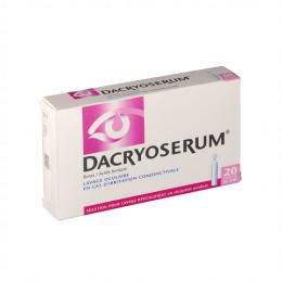 Dacryoserum Solution Pour Lavage Ophtalmique 20 Récipients Unidoses de 5ml