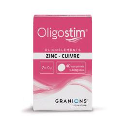 Granions Oligostim Zinc Cuivre - 40 comprimés