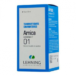 Lehning Arnica Complexe n°01 traumatismes Courbatures Solution Buvable en Gouttes 30ml