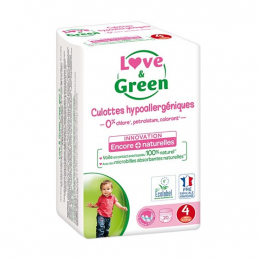 Love and green Couches culottes écologiques Taille 4 - 20 couches culottes