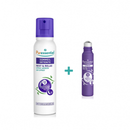 Puressentiel spray sommeil et détente 200ml + roll-on stress 5ml