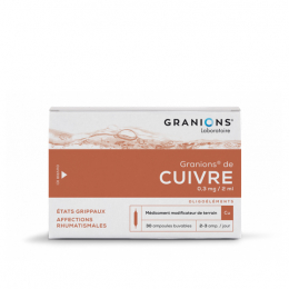 Granions de Cuivre 0,3 mg / 2ml solution buvable - 30 ampoules