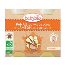 Babybio Petits pots Panais du val de loire,  jambon de corrèze - 2x200g