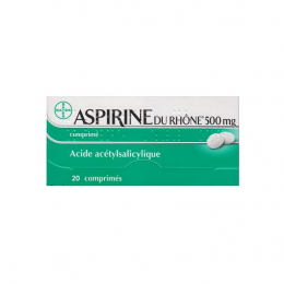 Aspirine du Rhône 500mg - 20 Comprimés