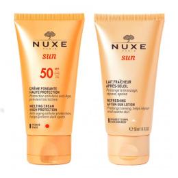 Nuxe Sun Crème fondante visage SPF50 - 50ml + Lait fraîcheur après-soleil - 50ml