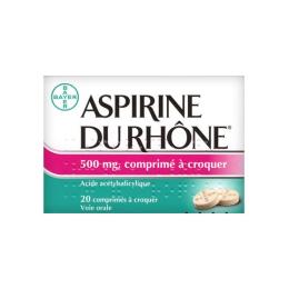 Aspirine du rhône 500mg - 20 comprimés à croquer