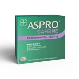 Aspro Caféine effervescent 500mg - 20 comprimés