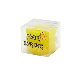 Hair Spring Elastique magique Jaune Sunlight - x3