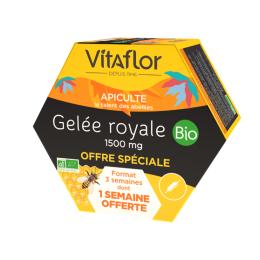 Vitaflor gelée royale bio 1500mg - 20 ampoules