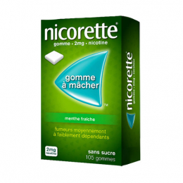 Nicorette Gomme à mâcher 2mg Menthe fraîche - 105 gommes