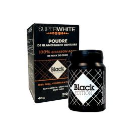 Superwhite Black édition Poudre de charbon actif - 40g