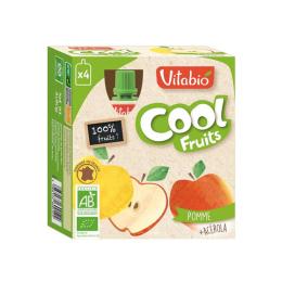 Vitabio Cool Fruits Pomme Poire de Provence BIO - 4x90g