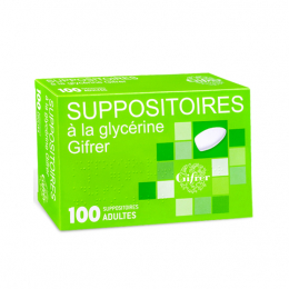 Gifrer Suppositoires à la glycérine - 100 suppositoires