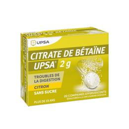 UPSA Citrate de Bétaïne 2g Citron - 20 comprimés effervescents