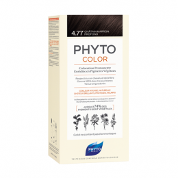 Phyto color Kit de coloration permanente - 4.77 Châtain marron profond