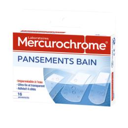 Mercurochrome pansements bain - 16 pansements