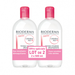 Bioderma Créaline H2O TS - lot de 2x500