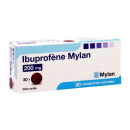 Mylan Ibuprofène 200mg comprimés enrobés - x30