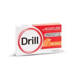 Drill Pastille Miel Rosat - 24 pastilles