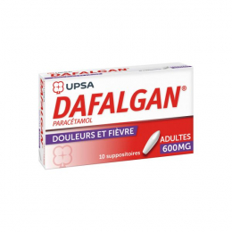 Dafalgan adultes  600mg - x10 suppositoires