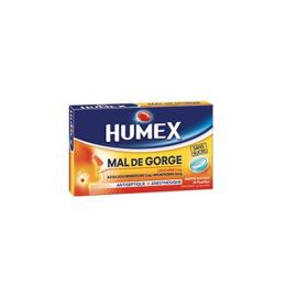 Humex Mal de gorge lidocaïne menthe glaciale sans sucre - 24 pastilles