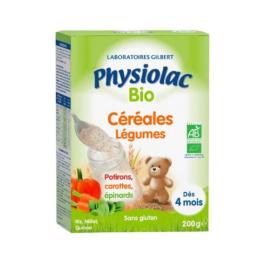 Physiolac Céréales Légumes BIO 4 mois - 200g