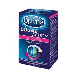 Optone Double Action gouttes hydratantes et lubrifiantes - 10ml