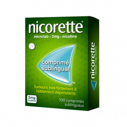 Nicorette Microtab 2mg - 100 comprimés sublinguaux