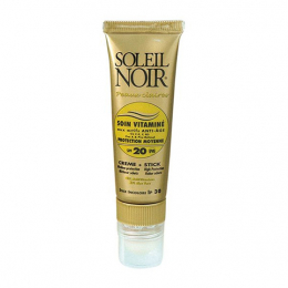 Soleil noir combi soin vitamine spf20 et stick spf30 protection moyenne - 20ml+2g