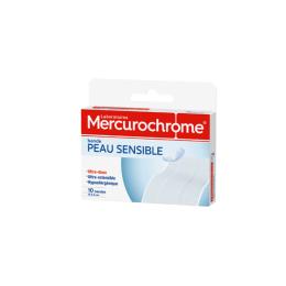 Mercurochrome bande peau sensible - 10 bandes