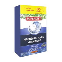 Superdiet Magnésium marin + vitamine B6 - 20 ampoules + 10 ampoules OFFERTES