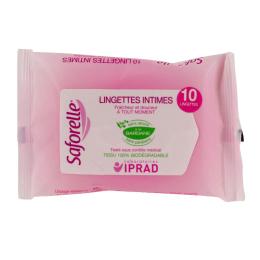 Saforelle Lingettes muqueuses et peaux sensibles  - 10 lingettes