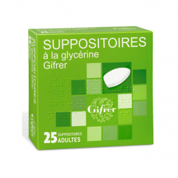Gifrer Suppositoire à la glycérine - 25 suppositoires