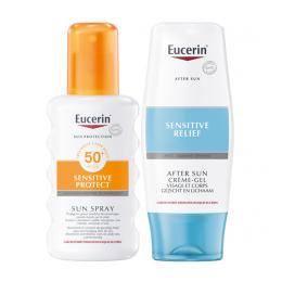 Eucerin Sun sensitive protect Spray spf50 - 200ml + après soleil - 150ml