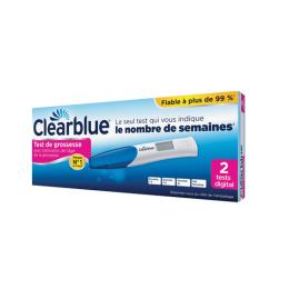 Clearblue test de grossesse digital avec estimation de l'âge x2