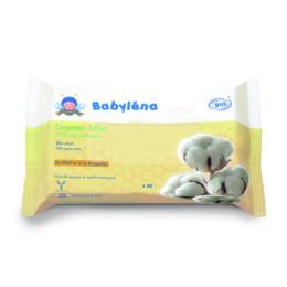 Babylena Lingettes bébé 100% coton bio  - x60 lingettes