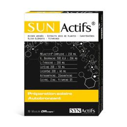 Sunactifs préparation solaire autobronzant - 30 gélules