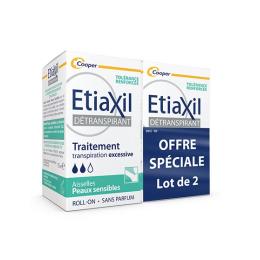 Etiaxil Detranspirant aisselles peaux sensibles - 2x15ml