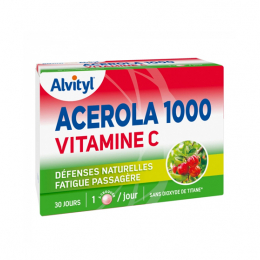 Alvityl Acérola 1000 Vitamine C - 30 Comprimés à Croquer
